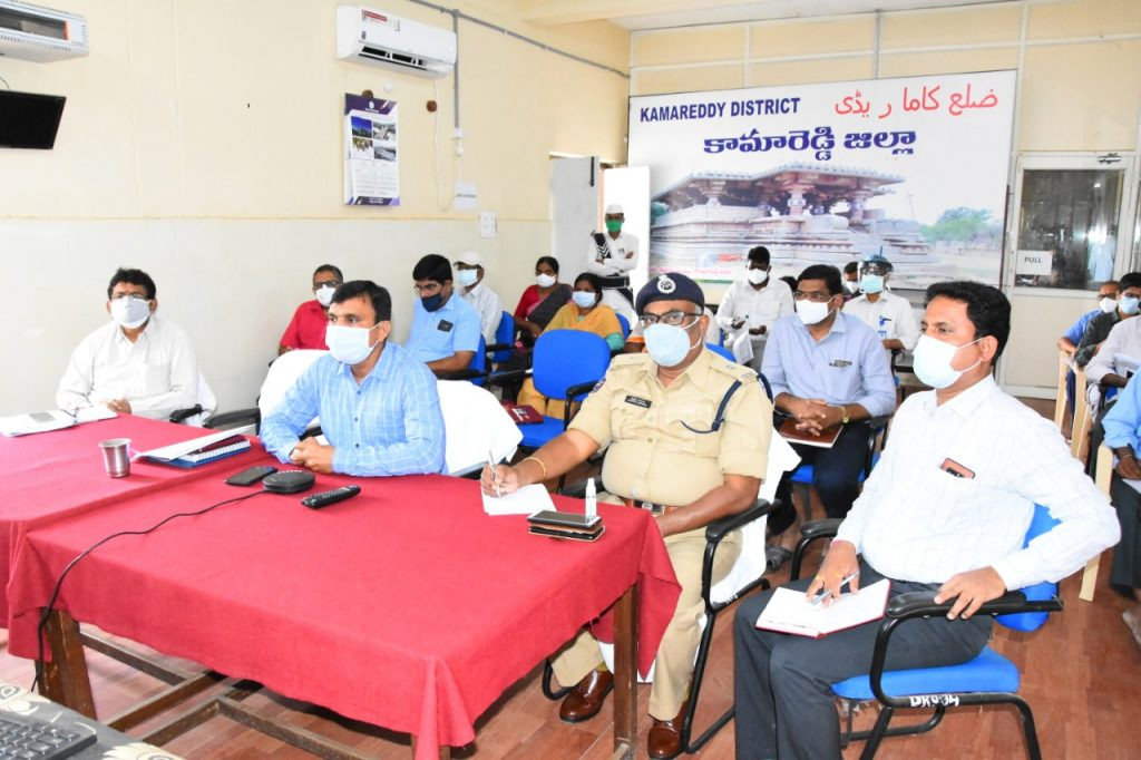 The District Collector reviewed with the authorities on Covid control, lockdown and grain purchases through video conference