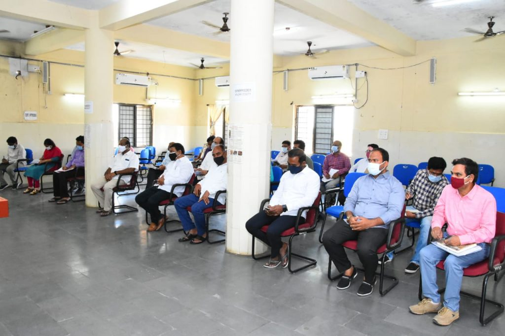 District Collector Dr. A.Sharath, IAS Garu along with Government Whip Gampa Govardhan Garu met district officials of various departments at Janahitha Bhavan and directed them on the work to be undertaken