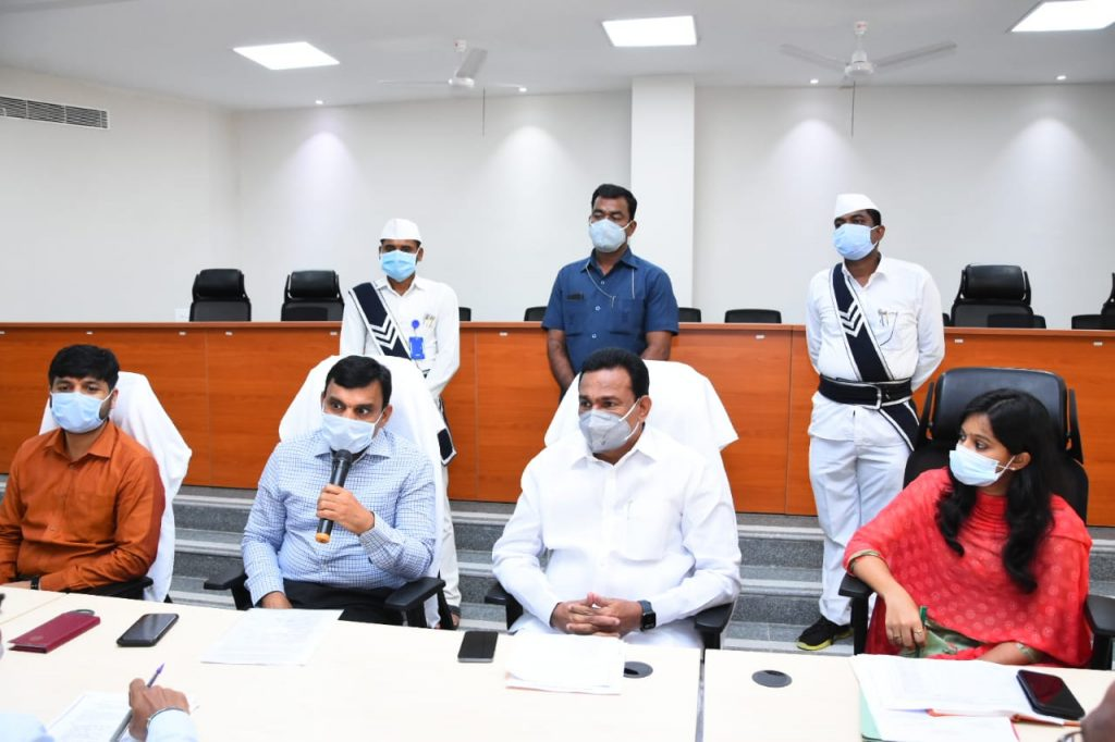District Collector along with Kamareddy MLA & Government whip Gampa Govardhan Conducted a Review with officials of Various Departments