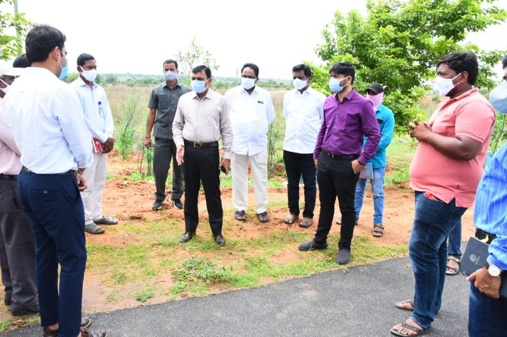District Collector Inspected the Palle Pragathi works in Gargul village Kamarddy mandal.