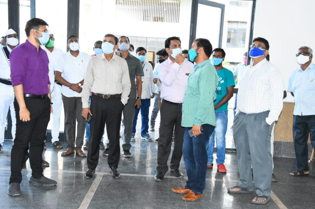 The District Collector is Examined Various Arrangements in the New District Collector's office