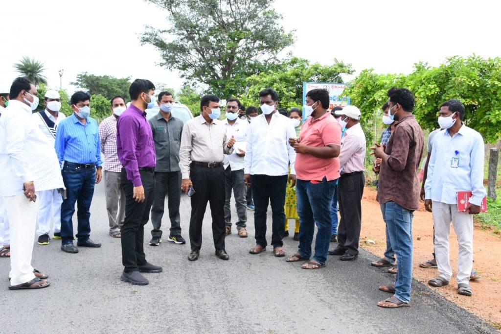 The District Collector inspected Avenue Plantation, Palle Prakruti Vanam, Patashala Prakruti Vanam, Oxygen Park, Compost Shed, Cemetery and Nursery in Kamareddy Mandal Gargul Village