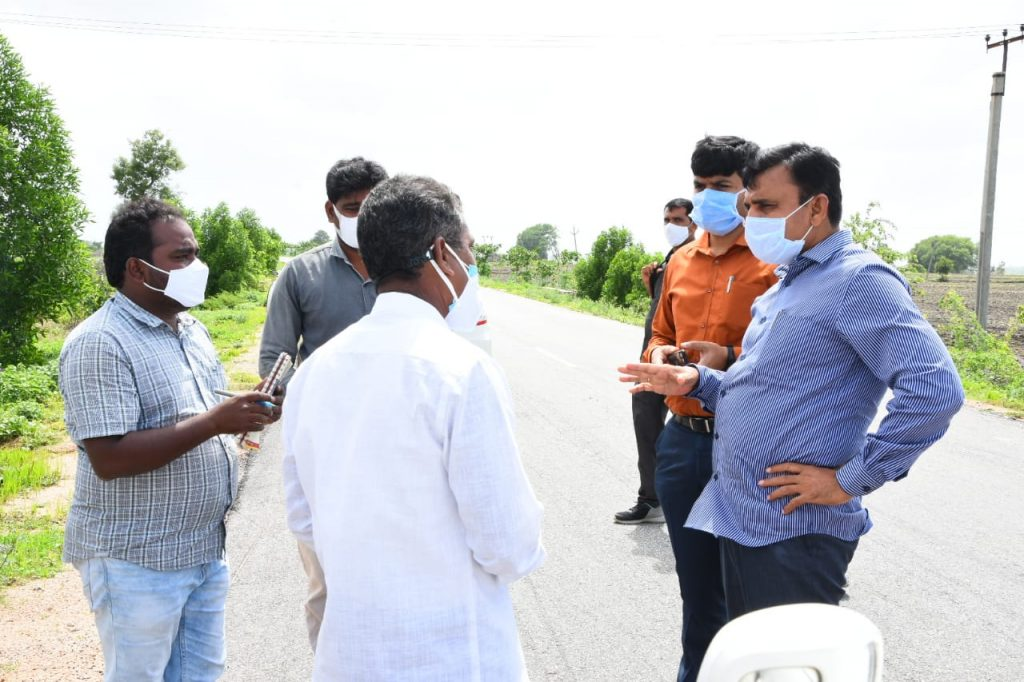 The District Collector inspected the plants planted in Avenue Plantation, Palle Prakruthi Vanam in Sadashivanagar and Ramareddy mandals.