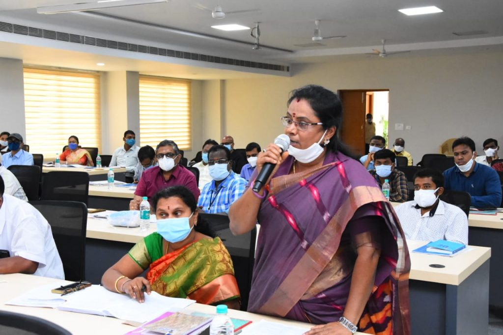 MP Bibi Patil Garu reviewed Disha review meeting at integrated district offices complex Kamareddy