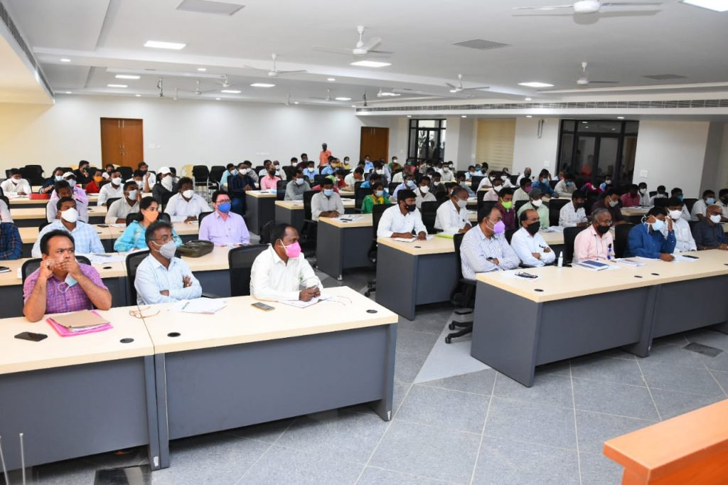 The District Collector Conducted Review on Haritha Haram with the Mandal level Authorities.