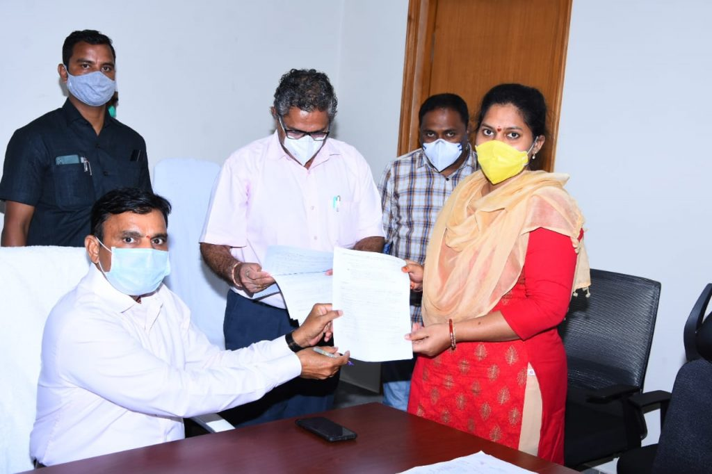 District Collector Hands Over Appointment Orders Copy to Selected Ayush Doctors and Staff Nurses In Collector Chamber