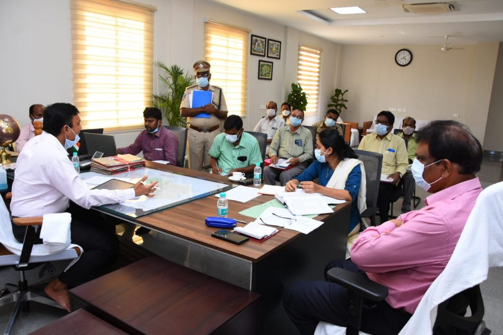 Review with the Forest and Revenue Departments Officials.