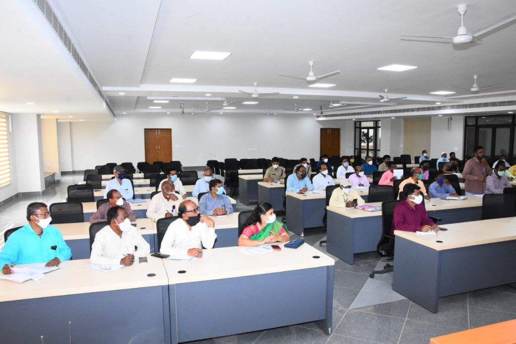The District Collector reviewed with the officers of various departments on the arrangements for the August,15th Independence Day celebrations in the meeting hall of the Collectorate