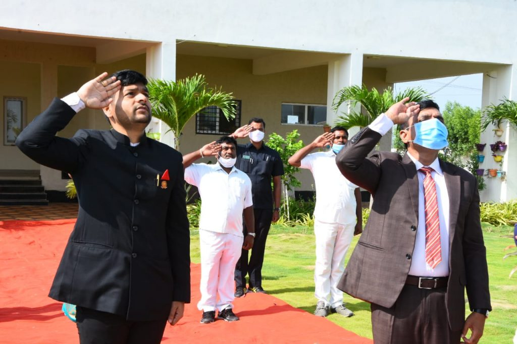 Independence Day Celebrations at Collector Camp Office.