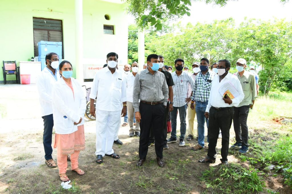 The District Collector visited the Primary Health Center at Bibipet