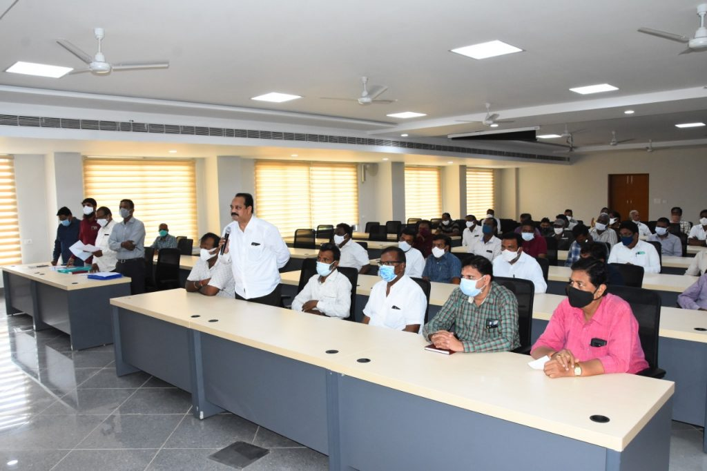 District Collector reviewed With Rice Millers on CMR milling works.