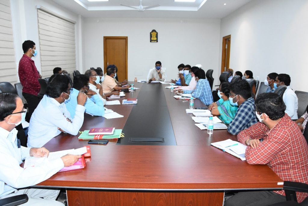 The District Collector conducted a review with the authorities on the national highway works