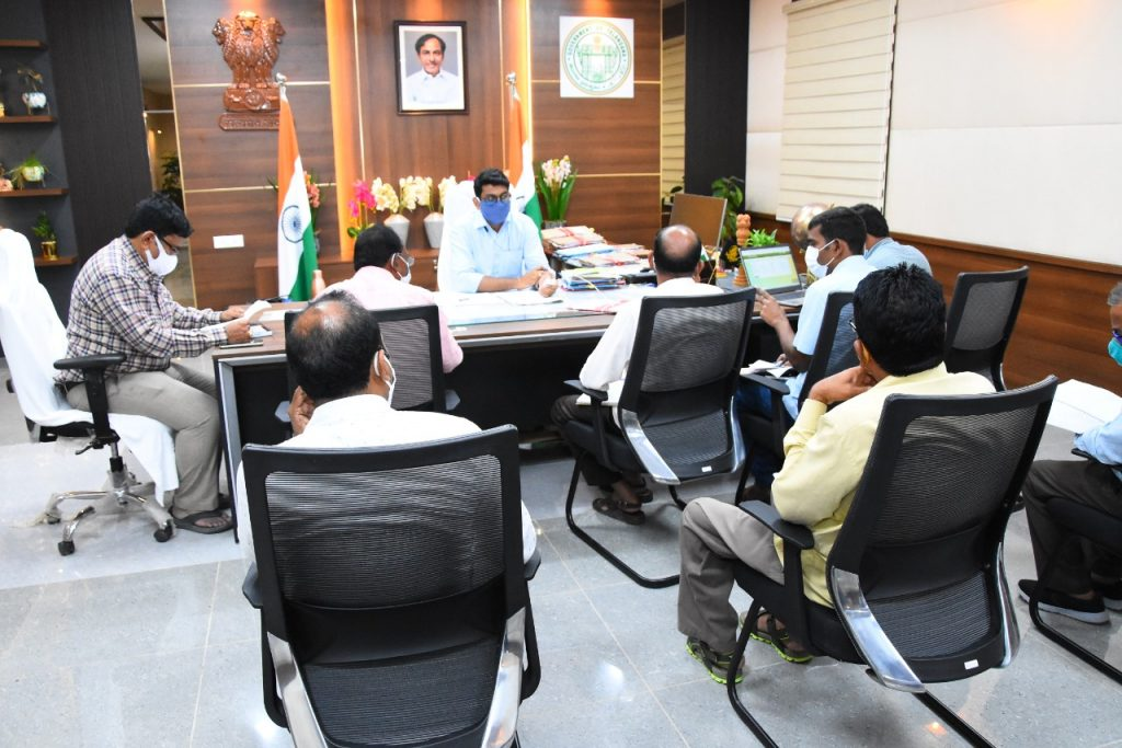 The District Collector Conducted a Review with the District Level Authorities on the implementation of Dalit Bandhu Scheme in the Nijamsagar Mandal.