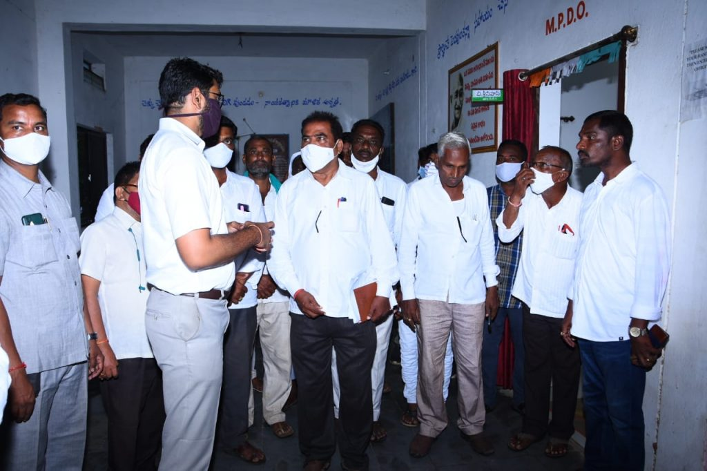 District Collector Visited the Madnur Mandal MPDO and Tahsildar Offices.