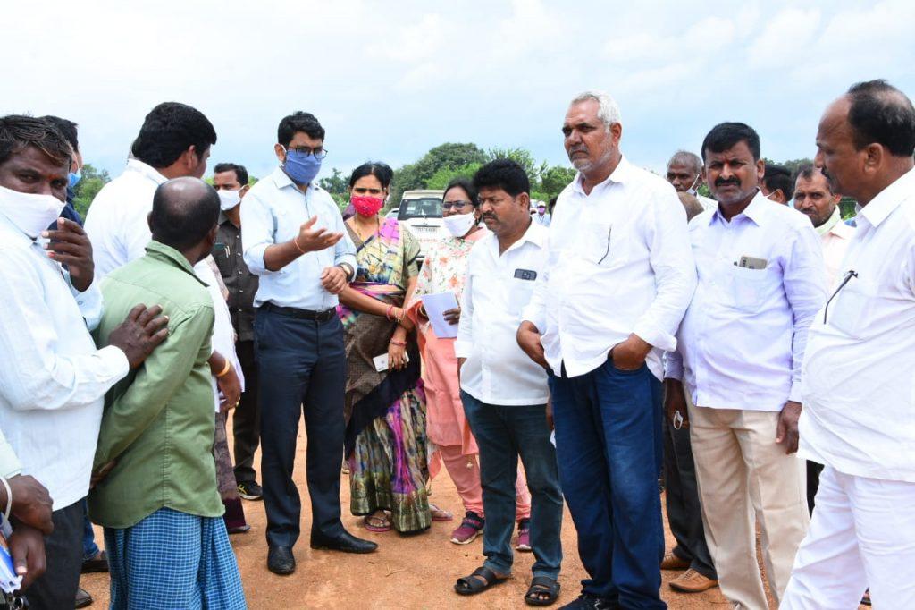 District Collector visited Avenue Palntation Shivaipalli, Basavannapalli Villages of Rajampet Mandal.