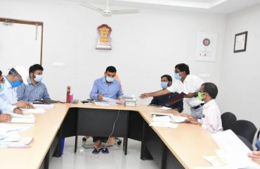 The District Collector reviewed with the officers
