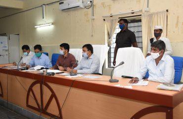 District Collector Reviewed On Palle pragathi meeting at Janahitha Bhavan.