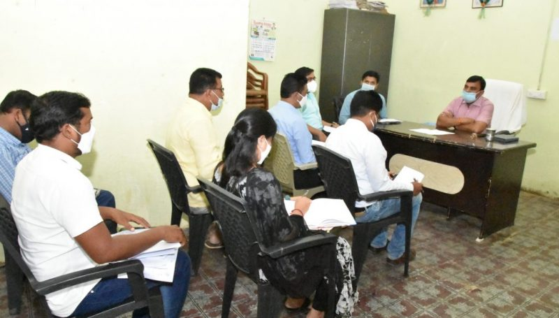 Collector Conducted a Review Meeting on Palle Pragati