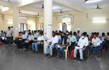 E.G.S.Works Review Meeting at Janahitha Bhavan by District Collector.