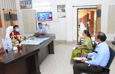 A review was held with the authorities on the farmer bond scheme in the Collector Chamber on Saturday.