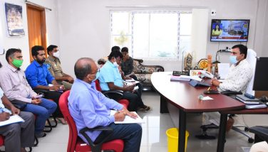 District Collector Dr. A. Sharath, IAS, Conducted Review