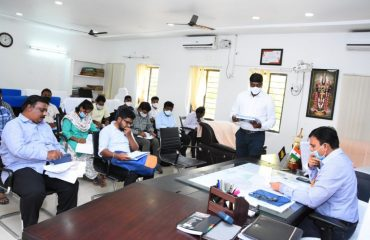 Review with the officers mandal-wise on the works of the Mission Bhagiratha scheme..