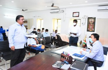 Review on Mission Bhagiratha in Collector Chamber