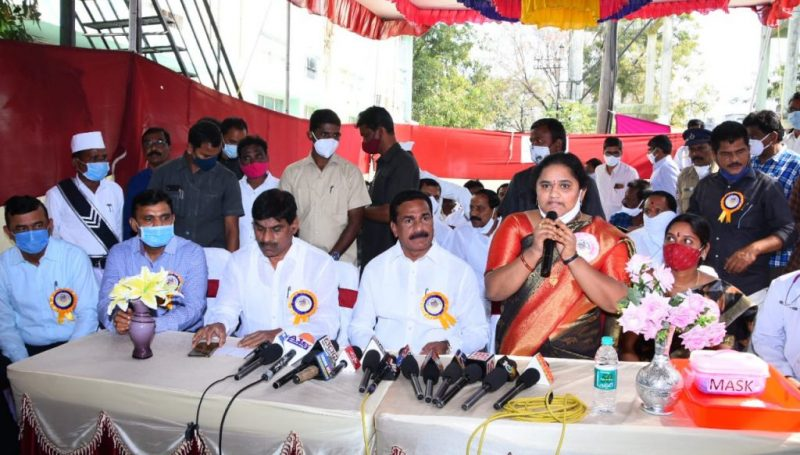 Public representatives and District Officials inaugurated the corona vaccination at In Kamareddy Government Area Hospital