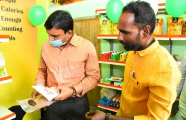Inaugurated an Organic Store in Kamareddy
