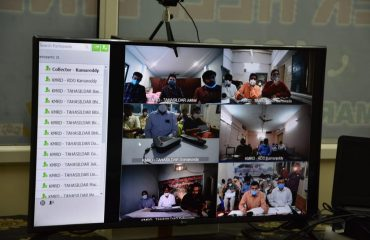 District Collector Conducted a Review Meeting through Video Conference