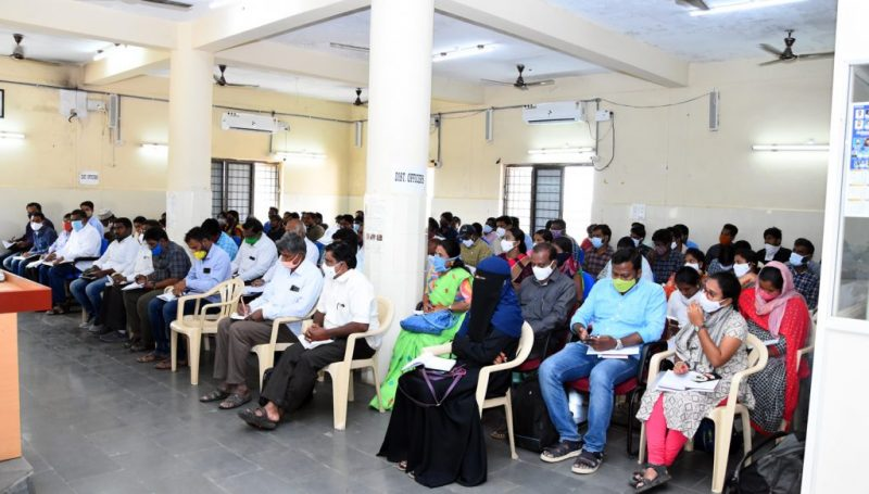 Pallepragathi Programme Review Meeting at Janahitha Bhavan by Ditrict Collector.