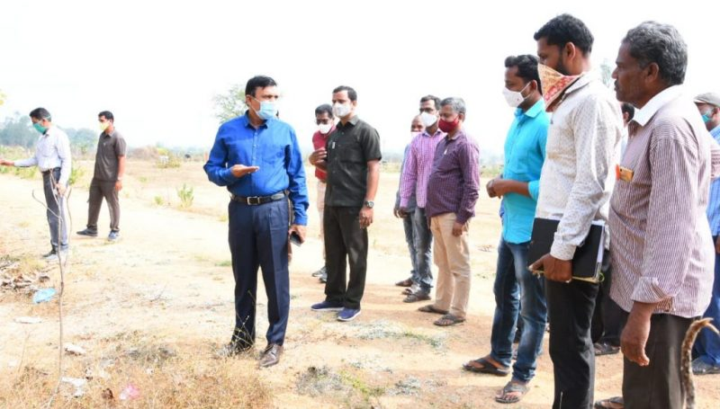 District Collector inspected Palle Praghathi works and Zilla Parishad High School in Gargul village of Kamareddy Mandal
