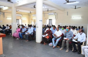 District Collector Conducted a review with Mdo's, Apo's, Mpo's, Irrigation and Panchayat Raj Engineers on EGS works.