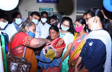 Pulse Polio Program Inaugurated by District Collector in District Area Hospital