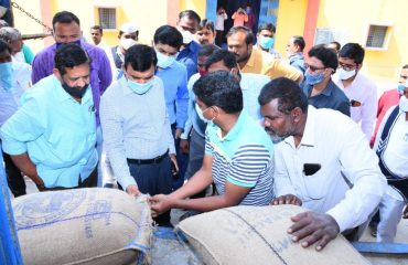 District Collector Visited FCI Godowns