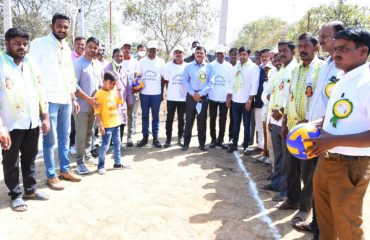 District Collector started the district level volleyball competitions