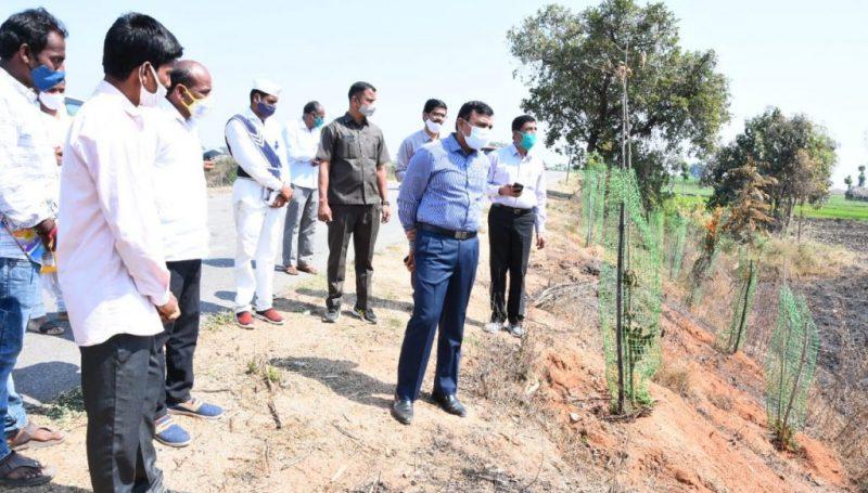District Collector inspected the rural development works, ZPHS high school and Rythu Vedhikalu in Sadashivanagar Mandal