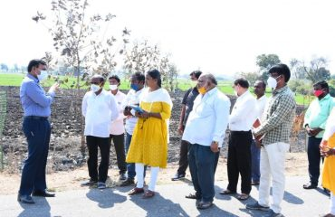 District Collector inspected the rural development works, ZPHS high school and Rythu Vedhikalu in Sadashivanagar Mandal