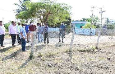District Collector inspected the site as part of the Koti Vriksha Archana program in Kamareddy