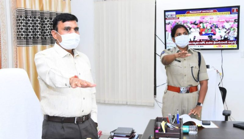 District Collector, SP and District Officers pledged to abide by the road rules in Kamareddy Collectorate