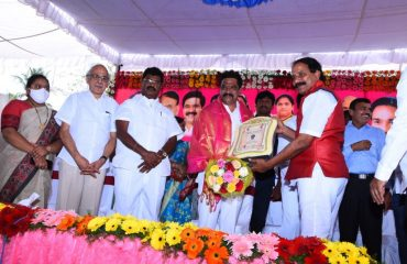 Punna Rajeshwar sworn in as the new Chairman of Kamareddy District Library.