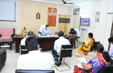 District Collector held review on custom milling rice with ricemillers & officials