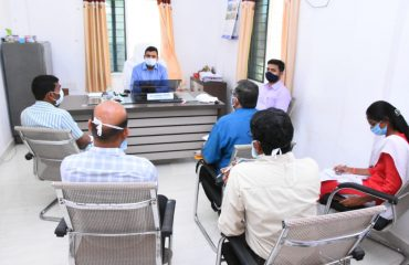 District Collector held a review meeting on Corona at Banswada RDO office