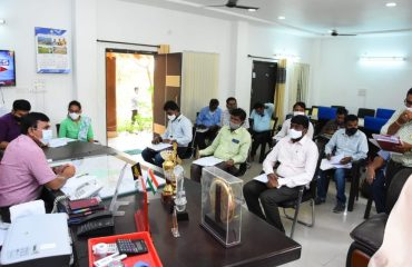 review with Mission Bhagiratha engineers regarding the supply of drinking water