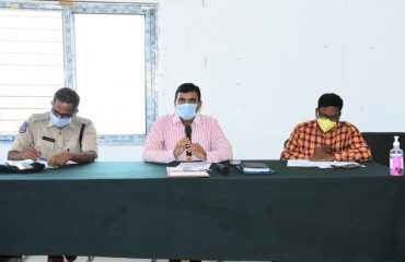 Collector Conducted a review Meeting with the officers in Banswada Mandal Parishad Development Office