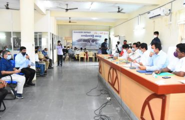 Minister of Roads and Buildings Sri. Vemula Prashanth Reddy Garu held a Review Meeting