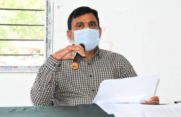 The review meeting on Corona was held by the District Collector at the Banswada MPDO office