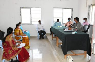 District Collector Conducted review on grain purchasing centers