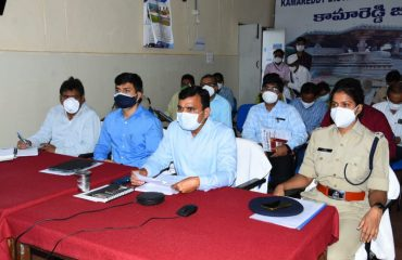 District Collector reviewed via video conference with authorities on the precautions to be taken for corona control