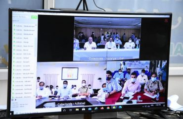 The State Chief Minister Kalvakuntla Chandrashekhar Rao Garu reviewed the corona control arrangements, details of positive rates and measures taken in the lockdown district-wise through video conference